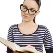 Reading book - Stock Photo