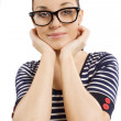 Student with glasses — Stock Photo