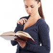 Reading a book — Stock Photo #6557903