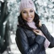 Girl in the winter park — Stock Photo