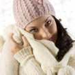 Girl in winter dress — Stock Photo