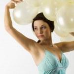 The balloons on head — Stock Photo #6688447