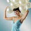 The vintage balloons party — Stock Photo