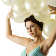 The balloons and the girl — Stock Photo #6688468