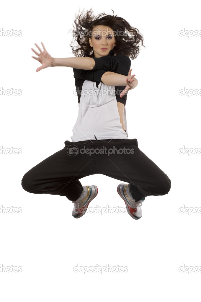 Cool Hip Hop Dance Poses Woman dancer in hip hop