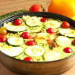 Vegetable casserole in a pan — Stock Photo