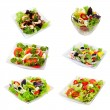 Stock Photo: Assorti of salads