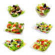 Assorti of salads - Stock Photo