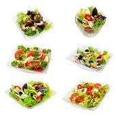 Assorti of salads — Stock Photo