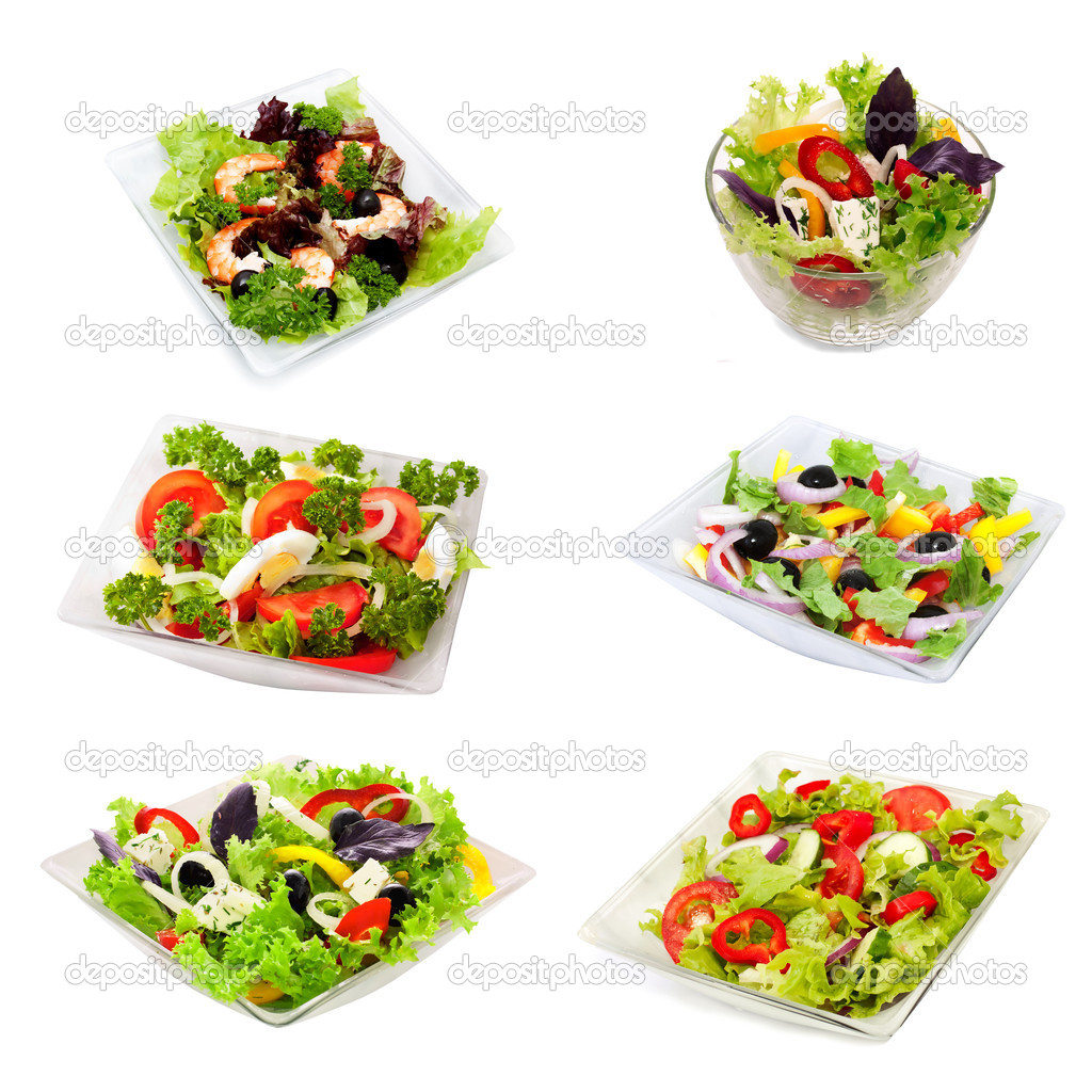 Assorti of vegetable  salads — Stock Photo #5586039