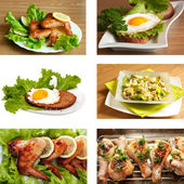 Collection of chicken dishes — Stock Photo