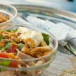 Salad of meet, crackers and vegetables — Stockfoto