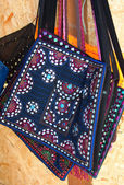 Ethnic bag made of cloth — Stock Photo