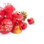 červené vánoční ozdoby — ストック写真