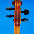 Fingerboard violin, isolated on blue background — Photo #6388409
