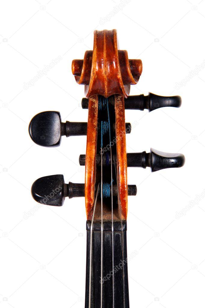 The fingerboard violin, isolated on a white background — Stock Photo #6388294