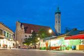 Kyrkan på natten — Stockfoto
