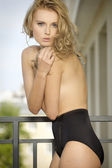 Beautiful slim sexy young woman — Stock Photo