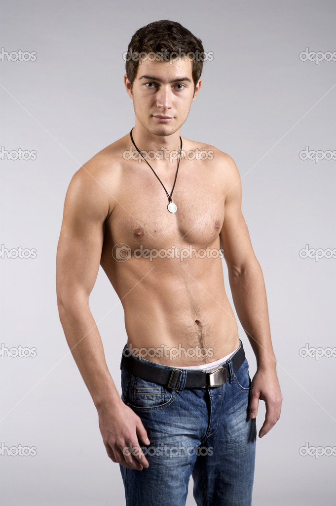 Young male underwear model - Stock Image