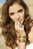 Portret brunetka — Zdjęcie stockowe