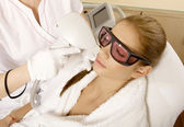 Laser hair removal in professional studio. — Photo