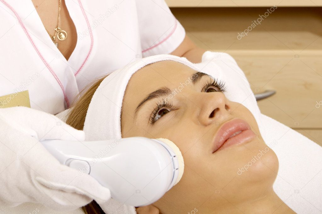 Laser hair removal in professional beauty studio. beauty parlor  Stock Photo #6143009