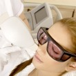 Laser hair removal in professional studio. — Stock Photo