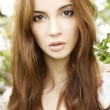 Brunette in the garden — Stock Photo #6425708