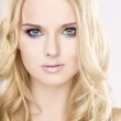 Young pretty woman with beautiful blond hairs — Stock Photo