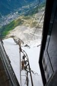 Chamonix panorama from Aiguille du Midi — Stock Photo