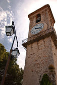 Clock tower in Church Notre-Dame de Esperance in Cannes — Stock Photo