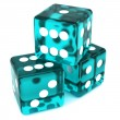 Teal Dice — Stock Photo