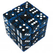 Blue Dice cube — Stock Photo