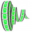 Film Segment with WEB word - Stock Photo