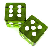 Green Dice — Stock Photo