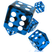 Blue Dice — Stock Photo