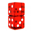 Red Dice — Foto Stock