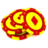 Casino tokens — Stock Photo