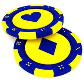 Casino tokens — Stock Photo
