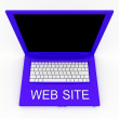 Royalty-Free Stock Photo: Laptop computer with word web site on it