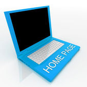 Laptop computer with word home page on it — Stock Photo