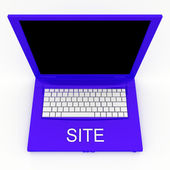 Laptop computer with word site on it — Stock Photo