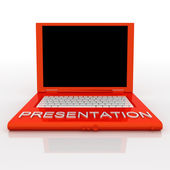 Laptop computer with word presentation on it — Stock Photo