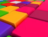Цветные кубики — Стоковое фото