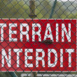 Stock Photo: Terrain interdite