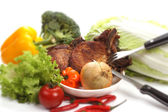 Roasted cutlet — Stock Photo