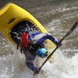 Man in kayak — Stock Photo