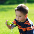 Boy with bubbles — Stock Photo #6001559