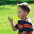 Boy with bubbles — Stock Photo #6001567