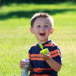 Boy with bubbles — Stock Photo #6001585
